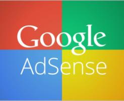 四色カラーの背景にGoogle AdSense