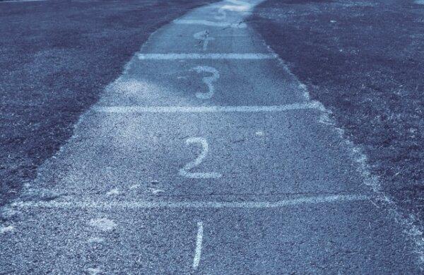 道と1,2,3,数字
