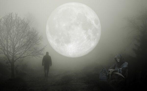 死神と満月