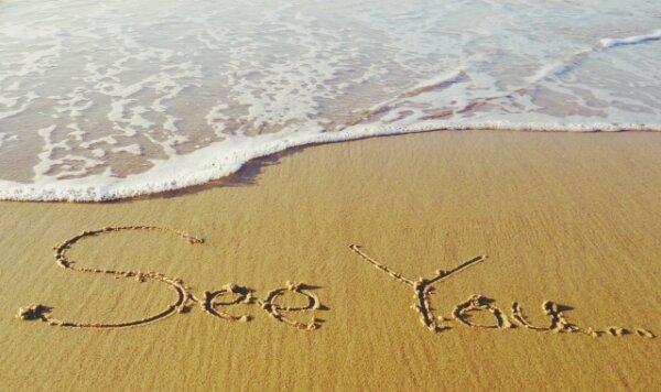 砂浜に書いたSee You